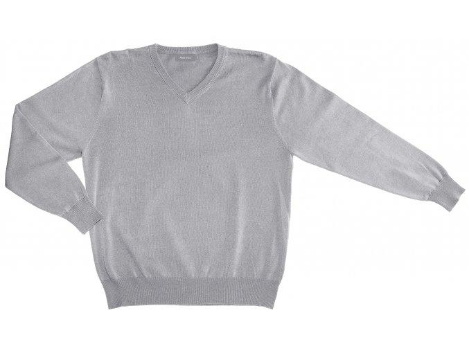Pánský svetr AMJ Style - světle šedý
