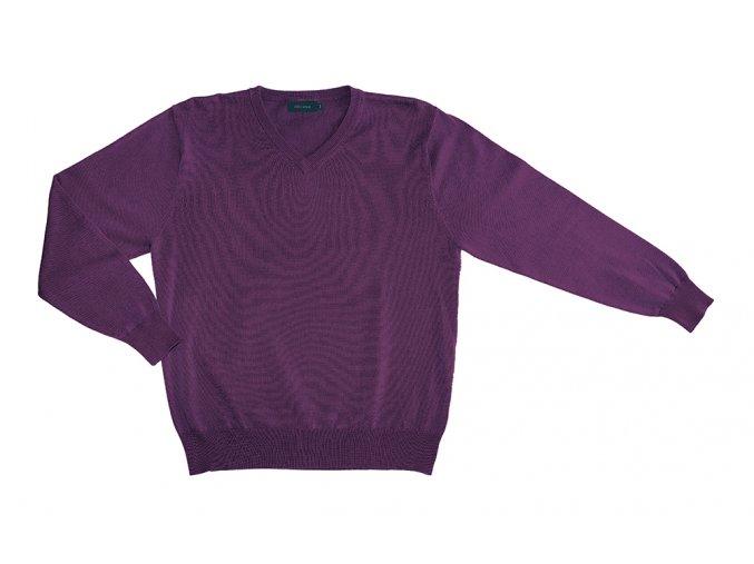 Pánský svetr AMJ Style - tmavě fialový