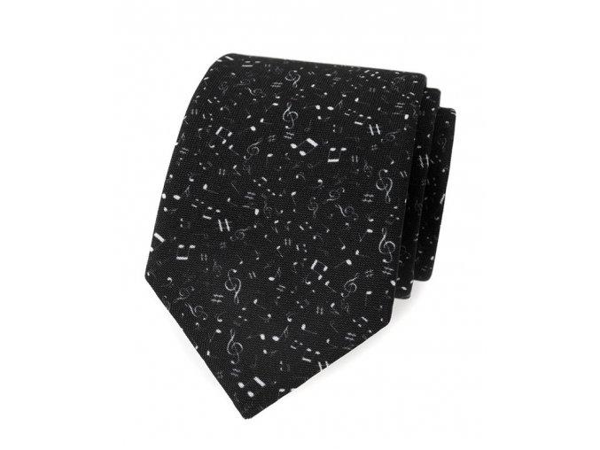 Kravata Avantgard Lux - černá nota