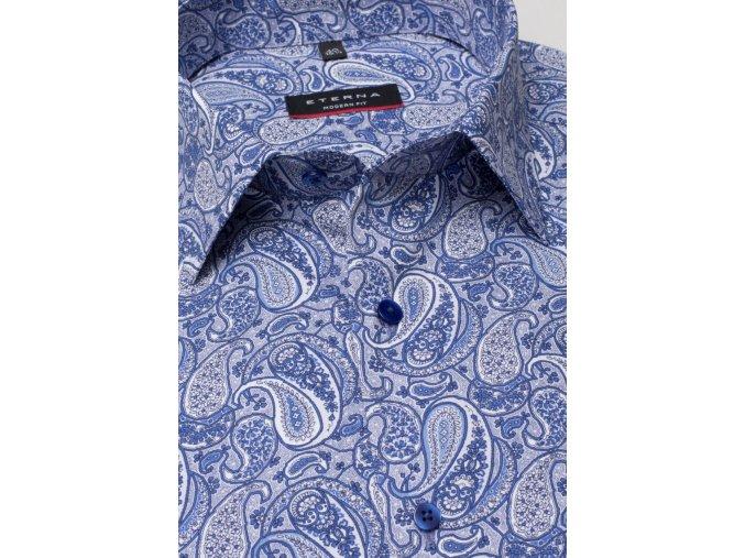 "Košile Eterna Modern Fit ""Print"" Modrá"