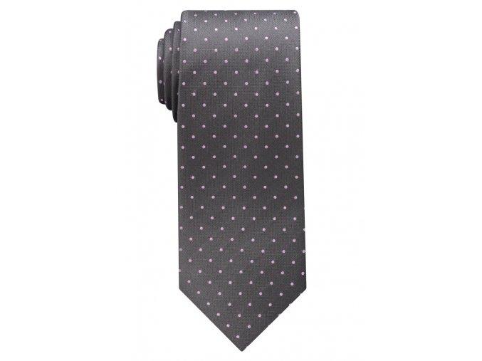 Vzorovaná kravata Eterna - modrá a růžové tečky