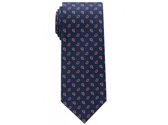 Vzorovaná kravata Eterna - modrá s červeným vzorem