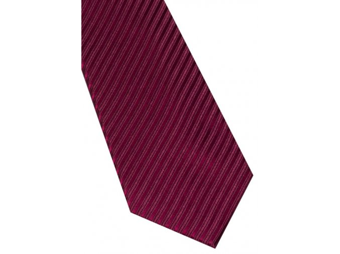 Hedvábná kravata Eterna - pruhovaná bordó