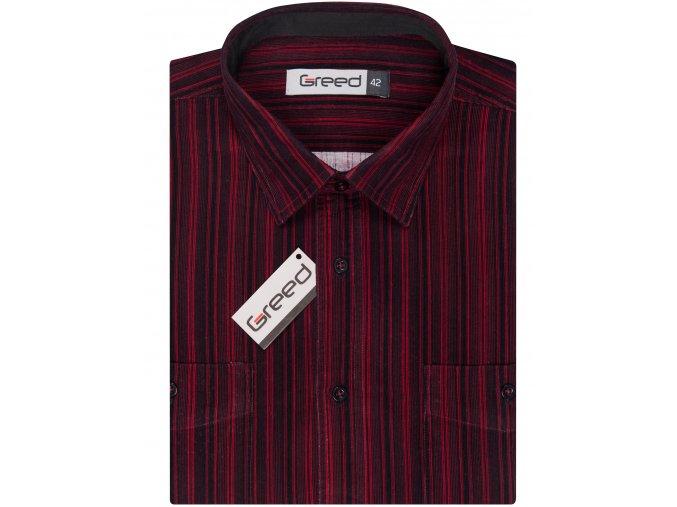 Manšestrová košile AMJ Greed Comfort fit Vínová