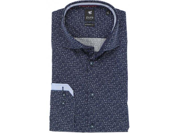 Košile Pure Modern Fit Modrá