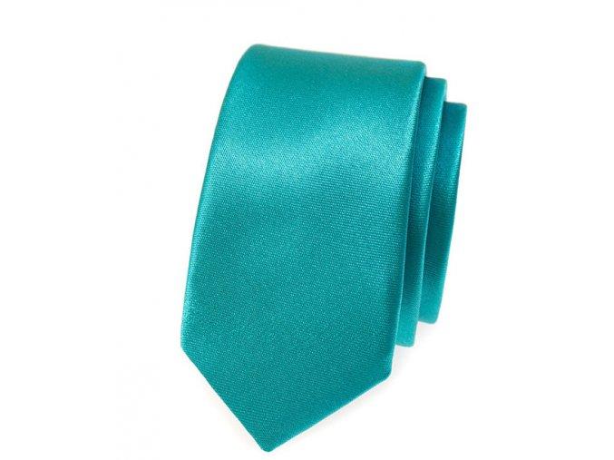 Úzká kravata Avantgard - tyrkysová