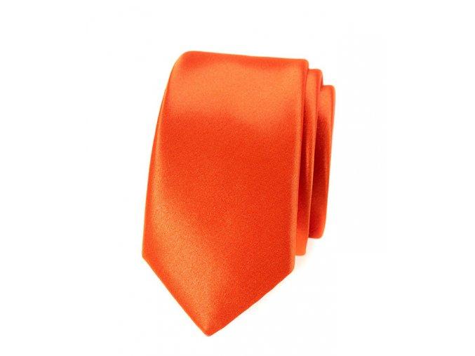 Úzká kravata Avantgard Lux - oranžová