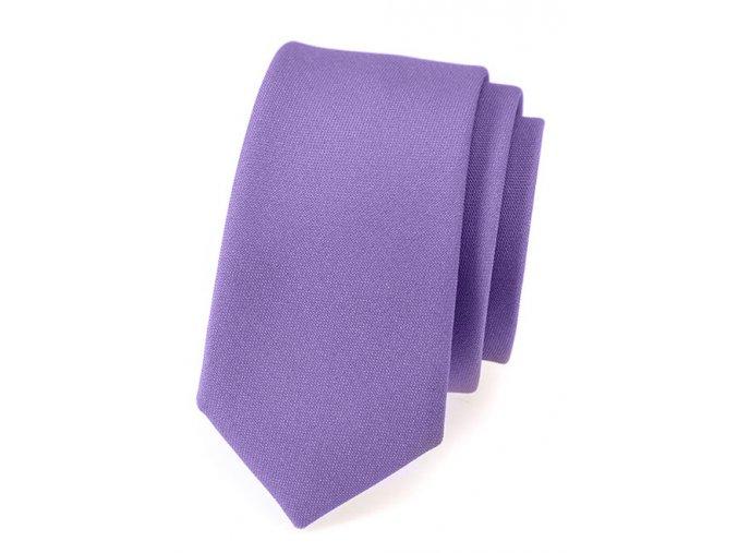 Úzká kravata Avantgard Lux - fialová