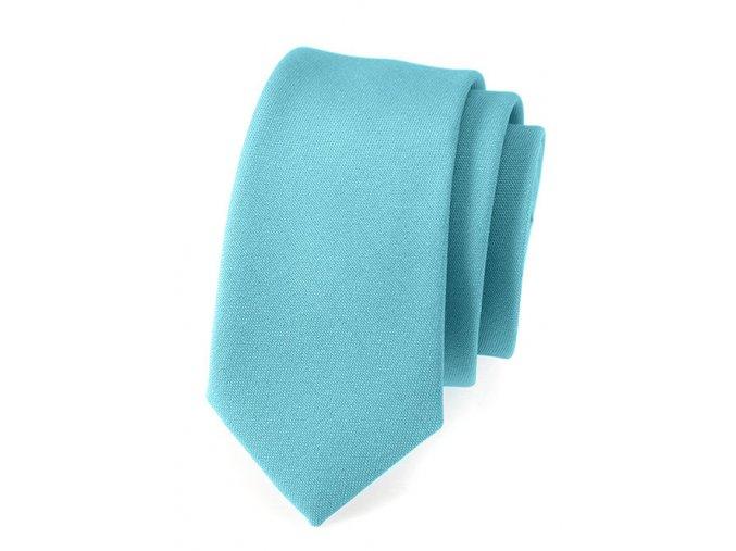 Úzká kravata Avantgard Lux - tyrkysová