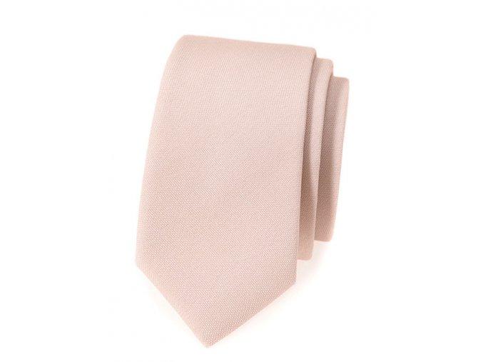 Úzká luxusní kravata Avantgard - béžová