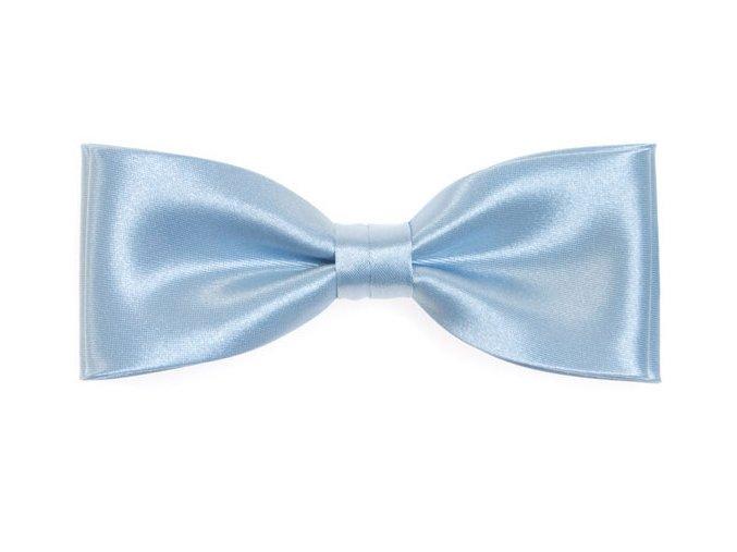 Dvojitý motýlek Avantgard s kapesníčkem - modrý
