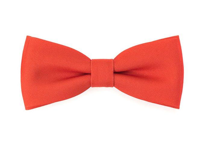 Dvojitý motýlek Avantgard s kapesníčkem - oranžový