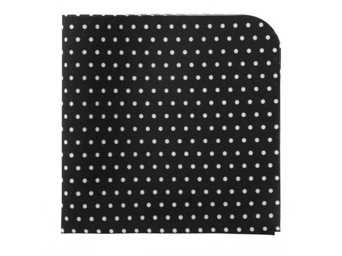 Kapesníček Avantgard LUX - černý s bílými puntíky