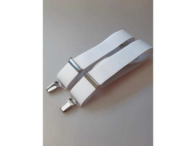 Pánské šle - bílé