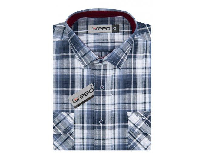 Bavlněná košile AMJ Greed Comfort fit Modrá
