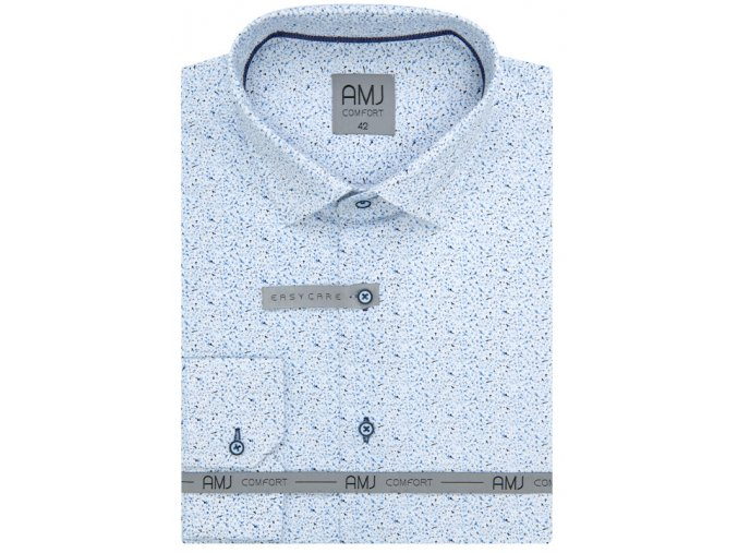 Pánská košile AMJ Comfort fit s jemným vzorem - morá