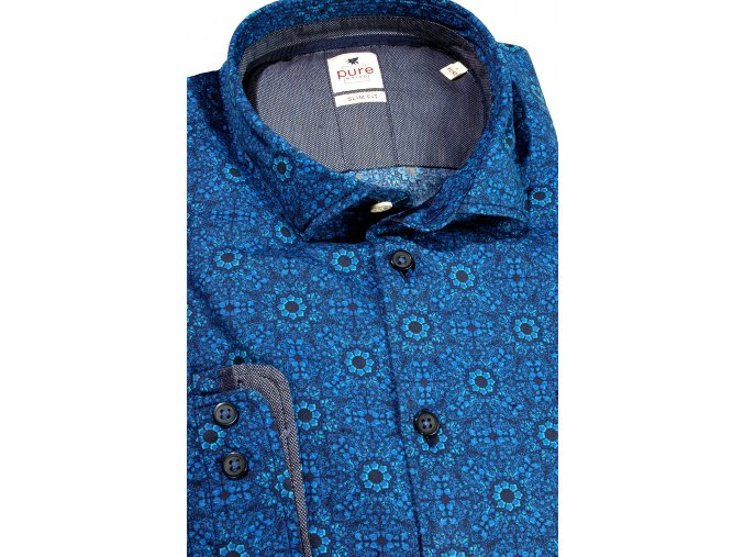 "Košile Pure Slim Fit ""Popeline"" Modrá"