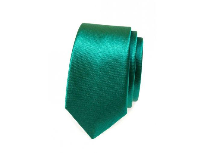 Úzká kravata Avantgard - smaragdová
