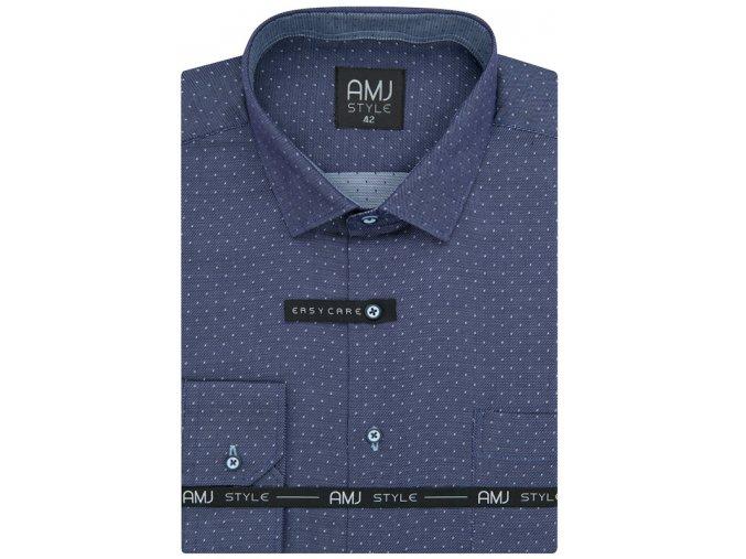 Pánská košile AMJ Comfort fit - modrofialová
