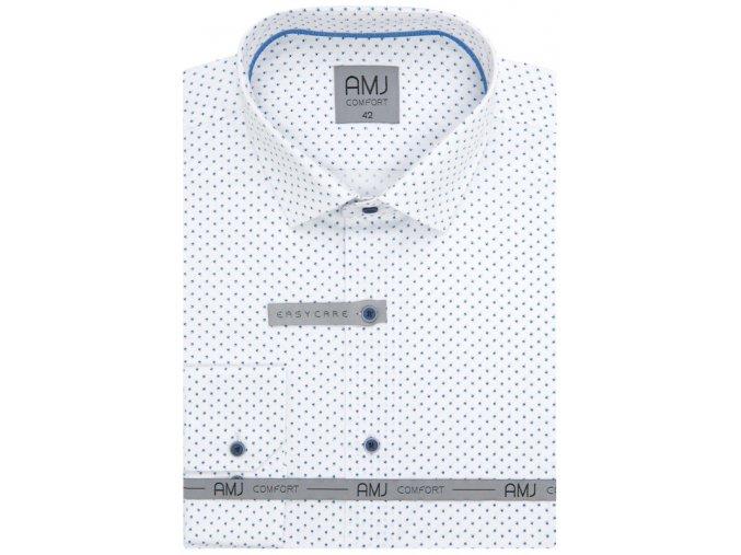 Pánská košile AMJ Comfort fit - bílá