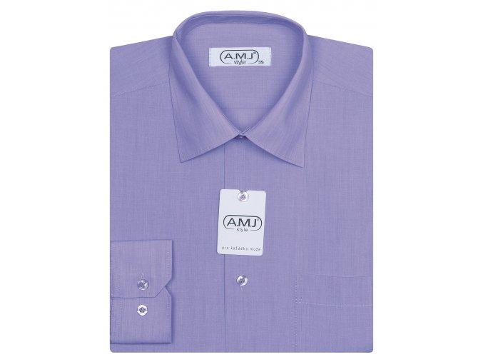 Pánská košile AMJ Comfort fit - fialová