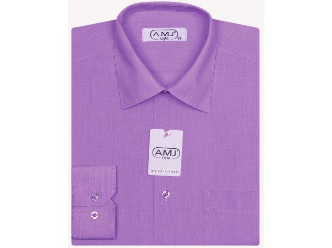 Pánská košile AMJ Comfort fit - fuchsiová