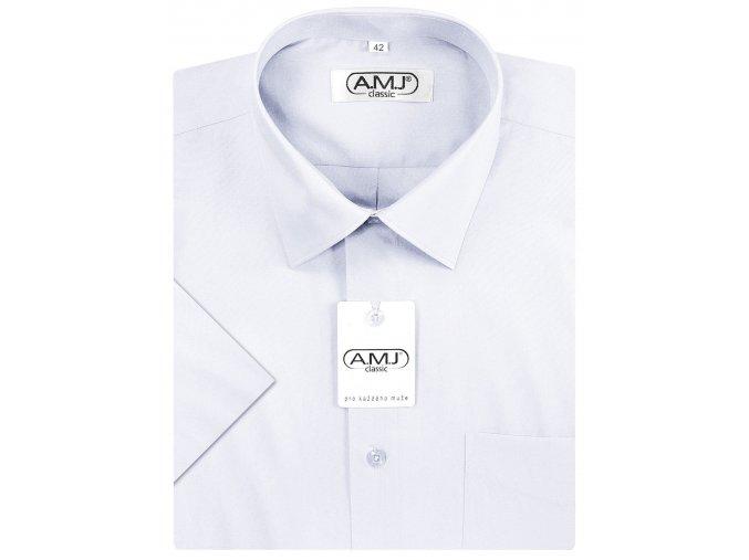 Pánská košile AMJ Comfort fit s krátkým rukávem - bílá