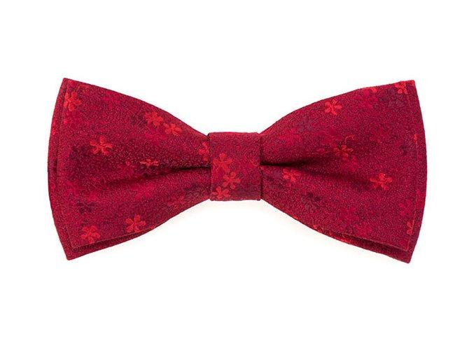 Dvojitý motýlek Avantgard s kapesníčkem - červený