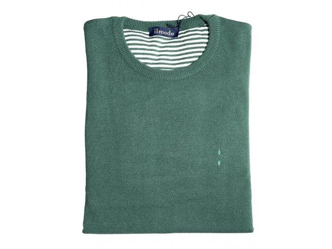 Pánský svetr Ilmodo - tmavě zelený