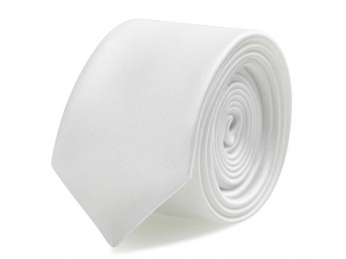 Slim kravata s kapesníčkem Brinkleys - bílá