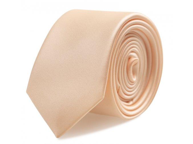 Slim kravata s kapesníčkem Brinkleys - světle meruňková