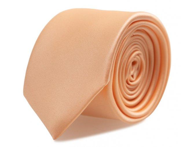 Slim kravata s kapesníčkem Brinkleys - meruňková