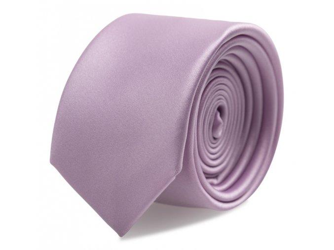 Slim kravata s kapesníčkem Brinkleys - lila