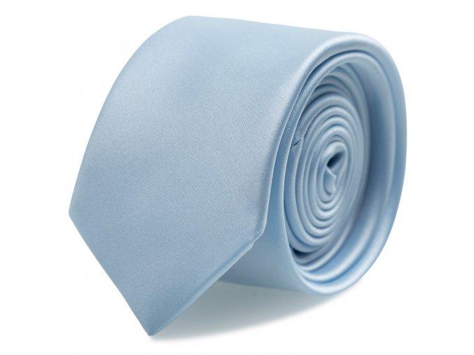 Slim kravata s kapesníčkem Brinkleys - světle modrá