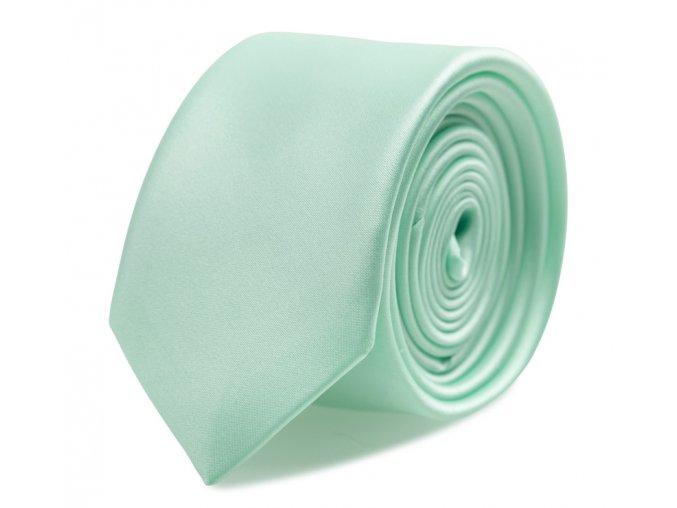 Slim kravata s kapesníčkem Brinkleys - pistáciová