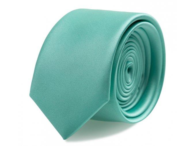 Slim kravata s kapesníčkem Brinkleys - tmavě mátová