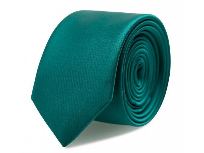Slim kravata s kapesníčkem Brinkleys - smaragdová