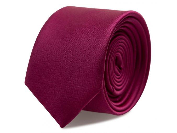 Slim kravata s kapesníčkem Brinkleys - tmavá fuchsie