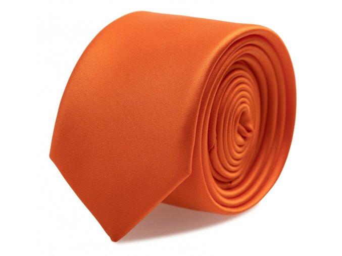 Slim kravata s kapesníčkem Brinkleys - oranžová