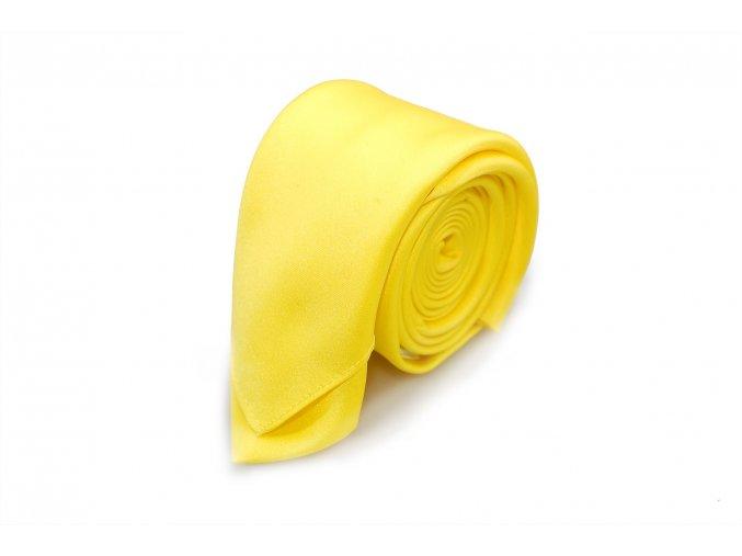 Slim kravata s kapesníčkem Brinkleys - žlutá