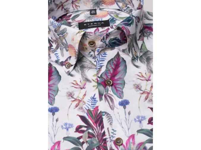 "Košile Eterna Comfort Fit ""Print"" Tropical Růžová"
