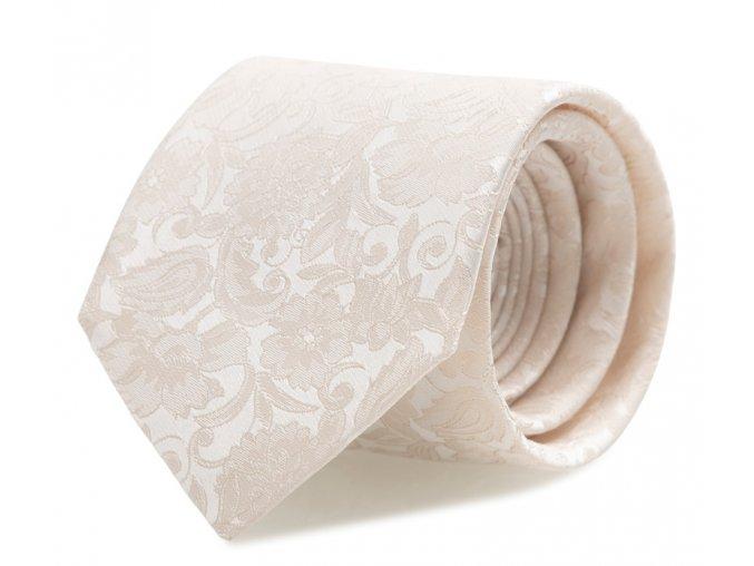 Slim kravata s kapesníčkem Brinkleys - ivory