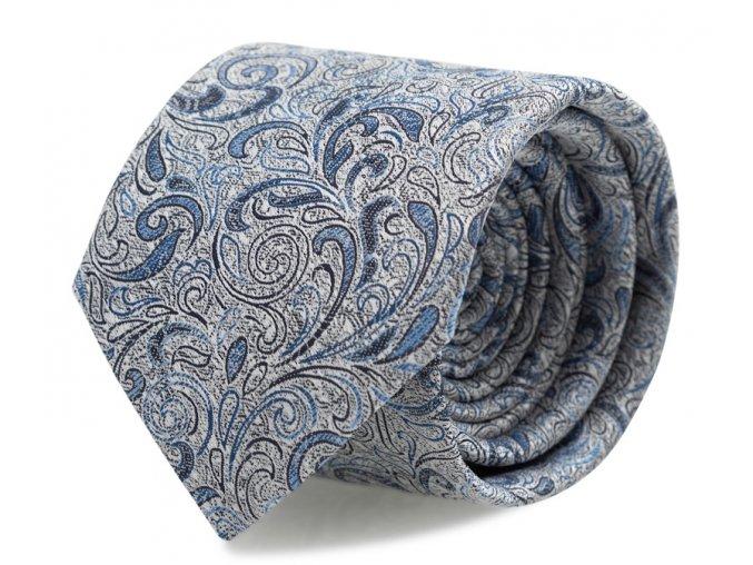 Slim kravata s kapesníčkem Brinkleys - modrošedá