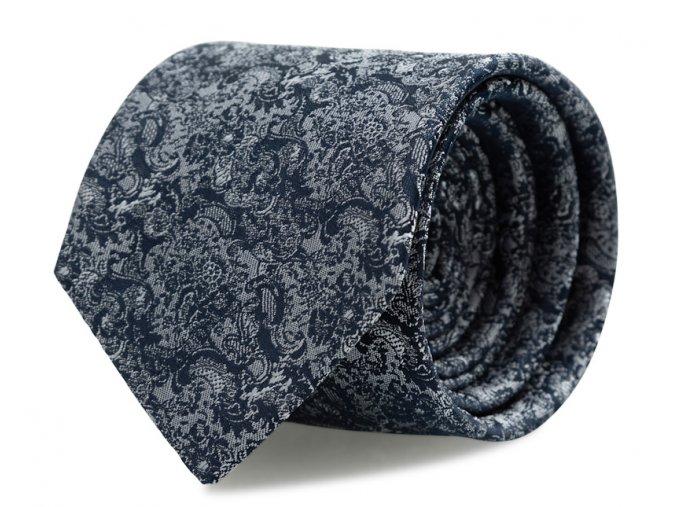 Slim kravata s kapesníčkem Brinkleys - navy-stříbrná