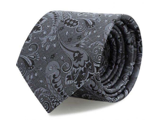 Slim kravata s kapesníčkem Brinkleys - antracitová