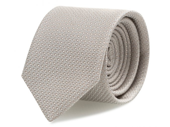Slim kravata s kapesníčkem Brinkleys - béžová