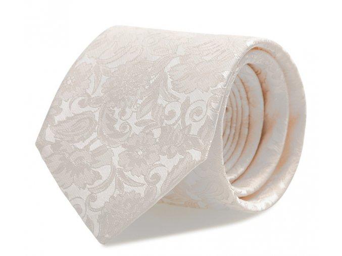 Kravata s kapesníčkem Brinkleys - ivory
