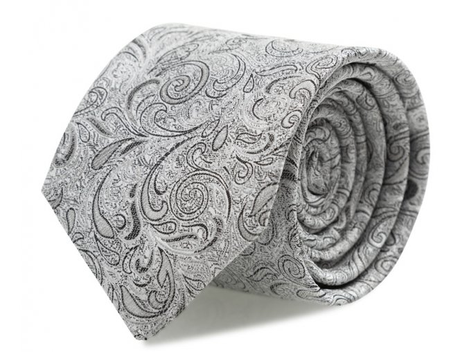 Kravata s kapesníčkem Brinkleys - stříbrná