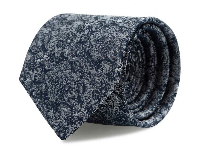 Kravata s kapesníčkem Brinkleys - navy-stříbrná