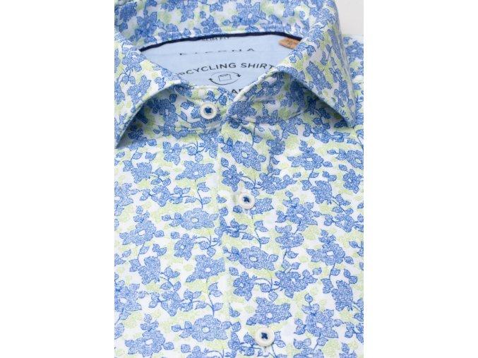 """Košile Eterna Slim Fit """"Popeline"""" Upcycling Shirt Modrá"""